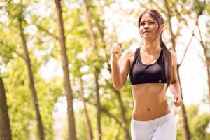 Bilder Fitness Laufsport Sport Mädchens