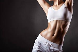 Hintergrundbilder Fitness Bauch Schön Mädchens