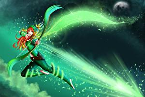 Pictures DOTA 2 Windrunner Archers Warrior Games Girls Fantasy