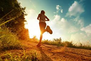 Hintergrundbilder Fitness Lauf Mädchens