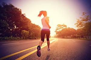 Bilder Fitness Wege Laufen Mädchens