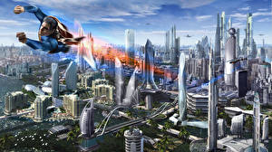 Bakgrunnsbilder Fantastisk verden Supermann helten Menn Superhelter