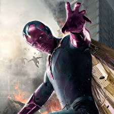 Pictures Avengers: Age of Ultron Superheroes Men Vision Fantasy