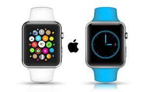 Hintergrundbilder Apple Uhr Armbanduhr Weißer hintergrund Apple Watch