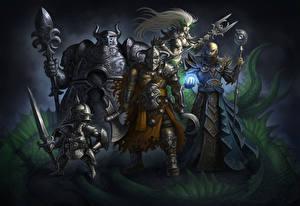 Images Warriors Magic Armor Swords Mage Staff Heroes Villains Fantasy