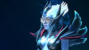 Picture DOTA 2 Vengeful Spirit Supernatural beings Glasses vdeo game Fantasy Girls
