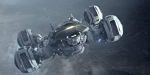Wallpaper Prometheus (2012 film) Ships Movies Space