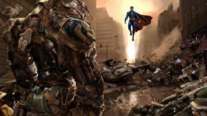 Bakgrunnsbilder Superhelter Supermann helten Robot