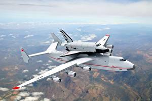 Fotos Flugzeuge Himmel Transportflugzeuge Flug Buran Antonov An-225 Mriya