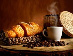 Bilder Croissant Kaffee Getreide Tasse Lebensmittel
