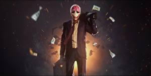 Wallpapers Payday 2 Masks Costume Necktie Houston Games
