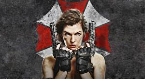 Wallpapers Milla Jovovich Resident Evil - Movies Pistols Resident Evil: The Final Chapter Girls Celebrities