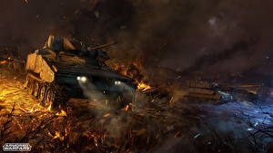 Wallpaper Armored Warfare Tanks MICV XM800T Armored Reconnaissance Scout Vehicle, XM8 vdeo game