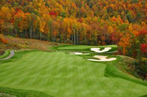 Hintergrundbilder Jahreszeiten Acker Herbst Wälder Golf Natur