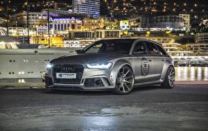 Image Audi Tuning Grey Estate car 2016 Prior-Design Audi RS 6 Avant PD600R Widebody Aerodynamic-Kit Cars