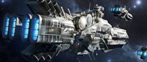 Bureaubladachtergronden Techniek Fantasy Schip Ender's Game film Fantasy Ruimte