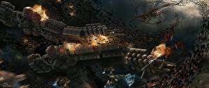Wallpaper Battles Technics Fantasy Ship Aliens Ender's Game Movies Space