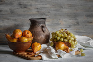 Image Still-life Grapes Pears Jug container