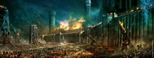 Pictures Fortress War The Lord of the Rings Fantasy