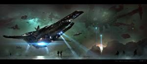 Bureaubladachtergronden Schip Star Citizen Computerspellen Fantasy Ruimte