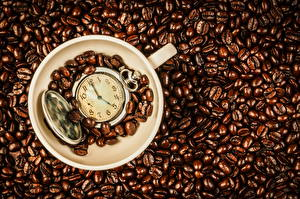 Hintergrundbilder Kaffee Uhr Taschenuhr Getreide Tasse
