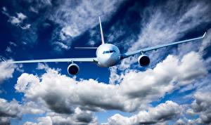Hintergrundbilder Flugzeuge Verkehrsflugzeug Himmel Wolke Flug Luftfahrt