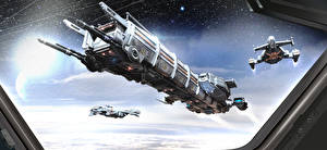 Wallpapers Star Citizen Ships vdeo game Fantasy Space