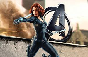 Desktop wallpapers Avengers: Age of Ultron Warrior Scarlett Johansson Movies Girls Celebrities