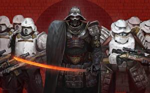 Fotos Star Wars  - Film Soldat Rüstung Helm Schwert Stormtroopers, Darth Vader Film Fantasy