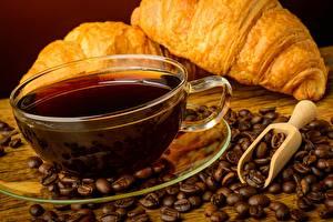 Hintergrundbilder Kaffee Croissant Tasse Getreide Untertasse Lebensmittel
