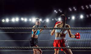 Fonds d'écran Boxe anglaise Deux Uniforme Filles Sport