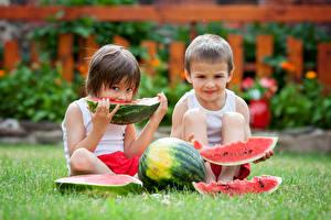 Images Watermelons Boys 2 Piece Grass Children