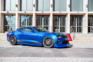 Wallpapers Chevrolet Tuning Light Blue 2016 Geiger Camaro Supercharged 630 automobile