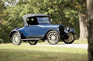 Hintergrundbilder Retro Blau Roadster 1917 Chalmers Model 6-30 Roadster