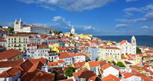 Tapety na pulpit Portugalia Budynek Niebo Miasto