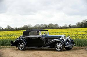 Hintergrundbilder Bentley Retro Schwarz Seitlich  Autos