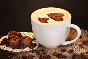 Hintergrundbilder Kaffee Schokolade Cappuccino Herz Getreide Tasse Lebensmittel