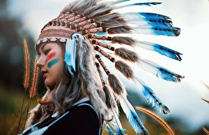 Images Feathers Warbonnets Injun Beautiful Girls