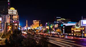 Bilder USA Gebäude Straße Las Vegas Nacht