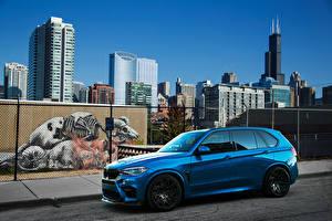 Images BMW Light Blue Metallic 2015-16 IND BMW X5 M automobile