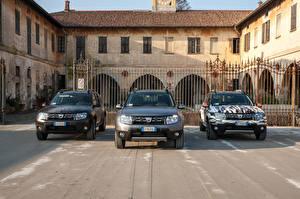 Hintergrundbilder Dacia Drei 3 Vorne Duster