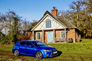 Desktop wallpapers Lexus Houses Blue Metallic 2014-16 CT 200h F-Sport Cars