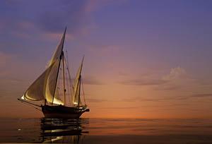 Hintergrundbilder Meer Segeln Sonnenaufgänge und Sonnenuntergänge Schiffe