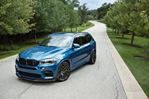 Photo BMW Light Blue Metallic 2015-16 IND X5 M auto