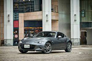 Bilder Mazda Grau Metallisch Roadster 2016 Roadster RF Autos