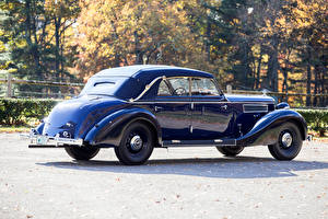 Hintergrundbilder Maybach Antik Metallisch Blau 1938-41 SW38 Cabriolet Autos
