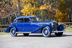 Hintergrundbilder Maybach Retro Metallisch Blau 1938-41 SW38 Cabriolet