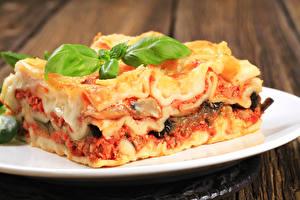 Fotos Die zweite Gerichten Lasagne Blatt Lebensmittel