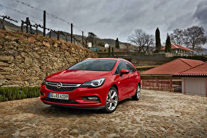 Fotos Opel Rot Metallisch 2016 Astra Sports Tourer BiTurbo auto