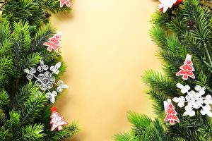 Hintergrundbilder Neujahr Feiertage Vorlage Grußkarte Ast Schneeflocken Weihnachtsbaum
